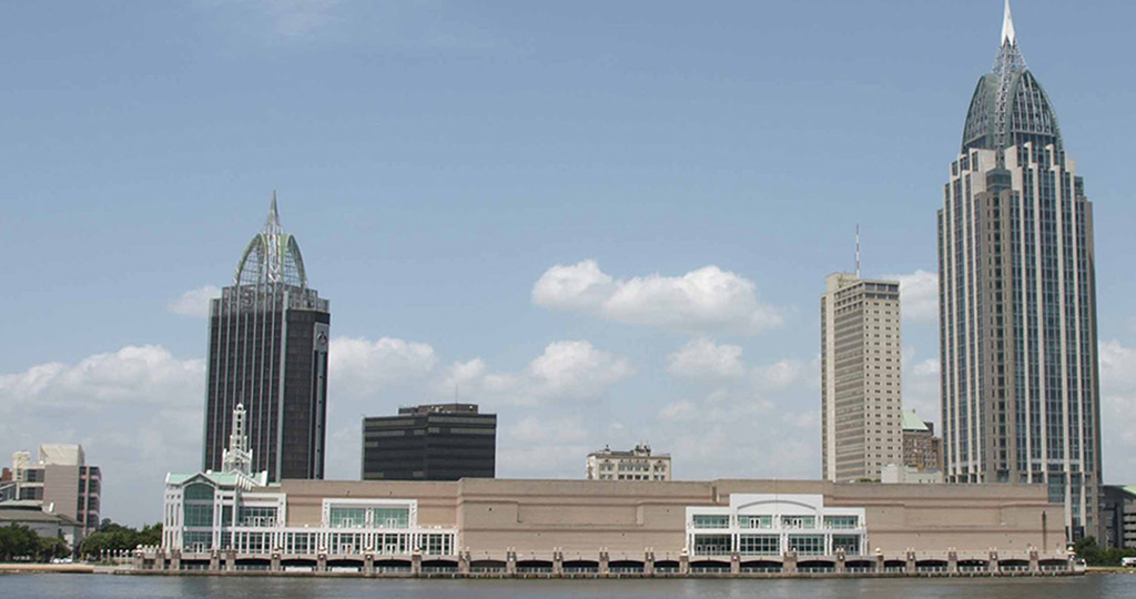 Mobile Alabama skyline