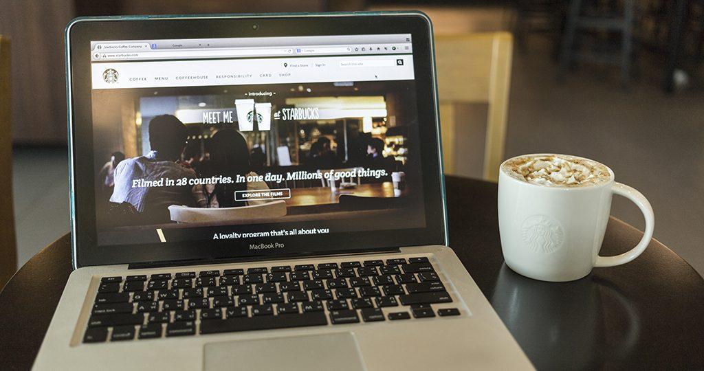Laptop Displaying Redesigned Website