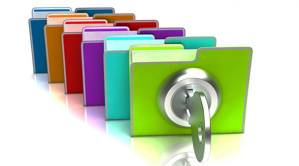 Protecting Data With Lock And Security