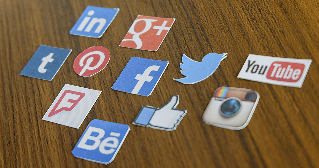 Social Media Icons On Table